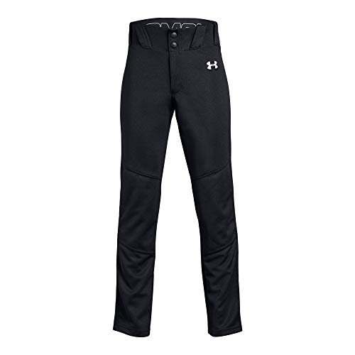 (Under Armour Boys Utility Relaxed Baseball Pant, Black (001)/White, Youth Small)