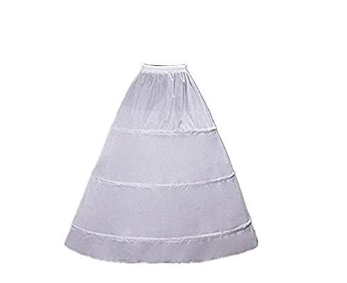 Tutu.Vivi A Line 3-Hoop Hoopless Crinoline Petticoat Slips, White, Size One Size