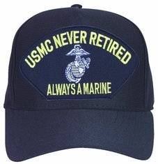 USMC Always a Marine ... Never Retired with Eagle Globe and Anchor Marine Corps Ball Cap (Anchor Ball Cap)