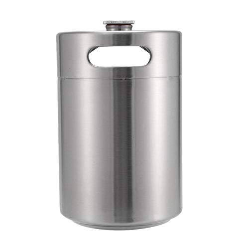 (BEAMNOVA Mini Keg Kit With Tap Barrel Stainless Steel Beer Dispenser Regulator Mini Keg Growler Serving System, 5 L, 1.32 Gallon, 169 oz )