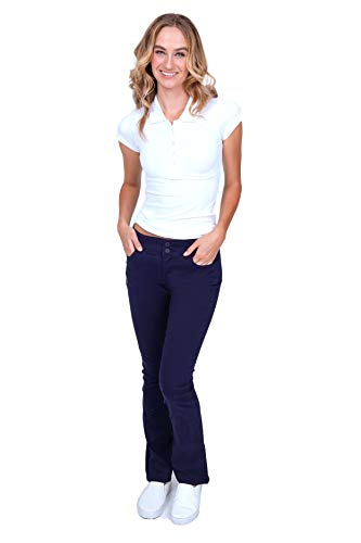 (Bebop Women's Size 3, Navy, 5 Pocket Bootcut Stretch Twill All Day Chino Pant)