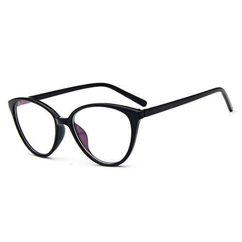 D.King Women Optical Cat Eye Glasses Vintage Fashion Mod Clear Lens Eyeglasses Eyewear Black