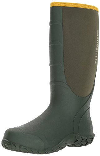 LaCrosse Men's Alpha Lite Pull On 16 Inch 5.0 MM Rubber Boot, Green, 11 M US