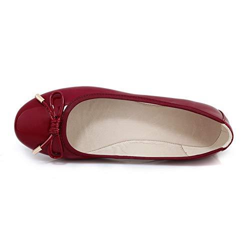 AdeeSu Bordeaux 5 Compensées Femme SDC05968 36 Rouge Sandales rwPrC