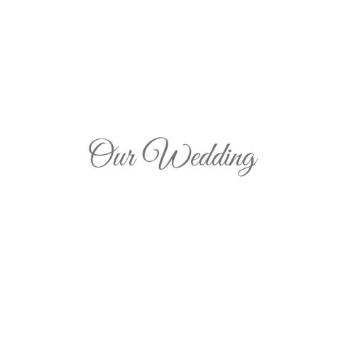 Our Wedding .......: Libro De Visitas Our Wedding para bodas decoracion accesorios ideas regalos matrimonio eventos firmas fiesta hogar invitados boda 21 x 21 cm Cubierta Blanco (Spanish Edition)