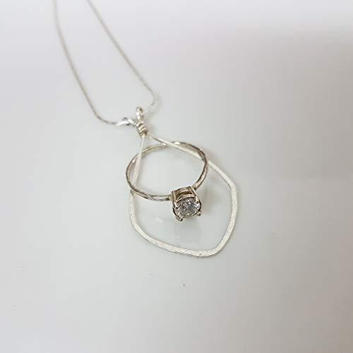 Sterling Silver Wedding Ring Holder Necklace 16.5