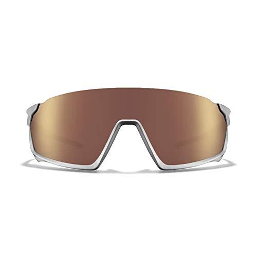 ROKA GP-1 Advanced Sports Performance Ultra Light Weight Sunglasses - Matte Silver Frame - HC Octane Mirror Lens ()