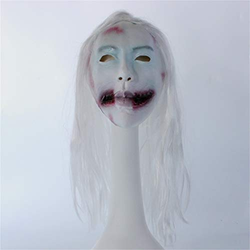 JGBHPNYX Mask Wig Female Ghost Horror Vampire Mask Halloween Show Props Ghost Face Ghost Latex Mask]()