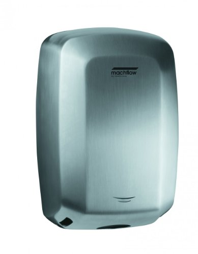 Saniflow M09ACS Machflow High Speed Commercial Stainless Steel Hand Dryer, One-Piece Stainless Steel Cover, Satin ()