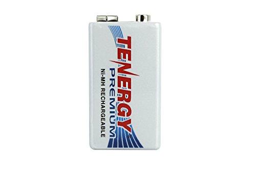1 Pcs Tenergy Premium 9V 200mAh NiMH High Capacity Rechargeable Battery