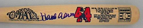 Braves Hank Aaron Autographed Cooperstown Collection Limited Edition Bat 1 Signed - JSA Certified