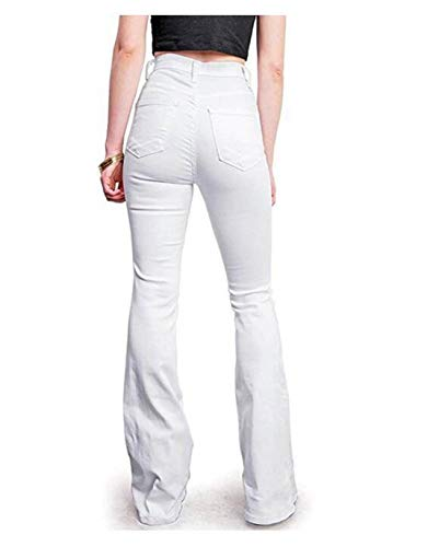 White Vestibilità Jeans Classica Xl Vita Alta Con A Size E Wowulgar color Blue2 7gZwXZ