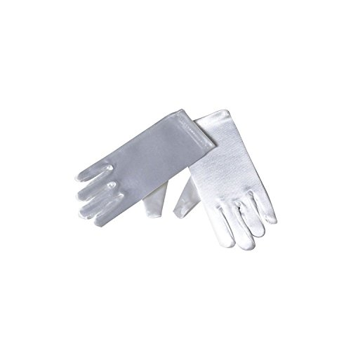 Short Satin Gloves - Child Sizes (4 - 7, White)