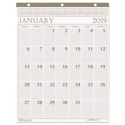 Doolittle Classic Wall Calendar - House of Doolittle Classic Wall Calendar 12 Months January 2014 to December 2014, 20 x 26 Inches, Brown Leatherette Binding, Recycled (HOD380)
