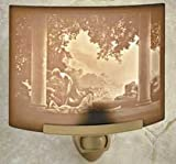Daybreak by Maxfield Parrish Porcelain Lithophane Night Light