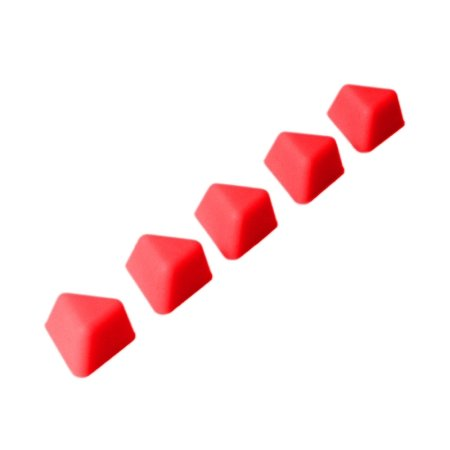 DrawerDecor - Customizable Drawer Organizer Triangle Divitz (5-Pack) - Red ()