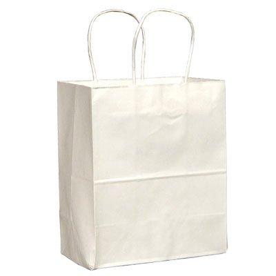 Duro ID# 84598 Tempo Shopping Bag 60# White 250pk 4-1/2 x 8 x 10-1/4