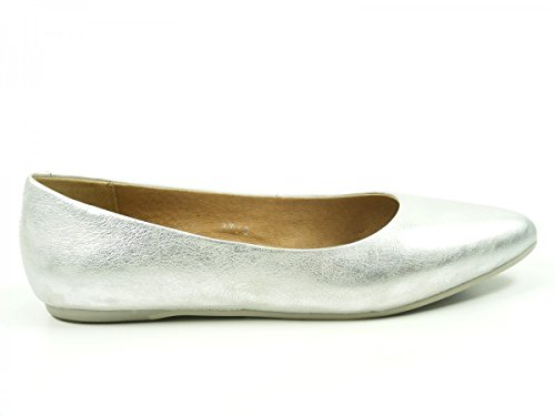 SPM 16966039 Jellyfish Womens Ballet Flats Silber UdPGutBenc