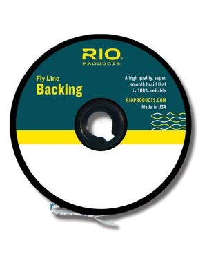 RIO Fly Fishing Backing Dacron 20Lb 100 yd. Fly Tying Equipment, Orange
