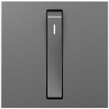 Adorne 15A Magnesium Single-Pole Whisper Switch