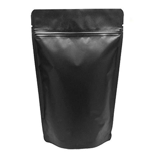 GooGou Matte Black Resealable Zip Mylar Bag Food Storage Aluminum Foil Bags Smell Proof Pouches 50pcs (5.1x8.1in)
