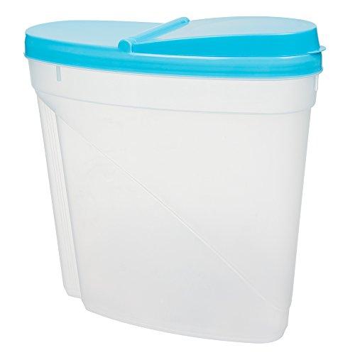 Invero® 4x Set de plástico 3L de alimentos secos Caja de almacenamiento de la cocina Dispensador de contenedores con tapa hermética ideal para los cereales ...