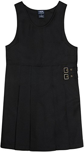 FRENCH TOAST School Uniform Girls Twin Buckle Tab Jumper - Y9075 - Black, 16 - Buckle Tab