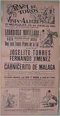 CARTEL PLAZA DE TOROS DE VISTA - ALEGRE, 25 de julio ...