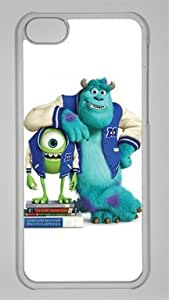 MIKE & SULLEY Monsters University Custom PC Transparent Case for iPhone 5C