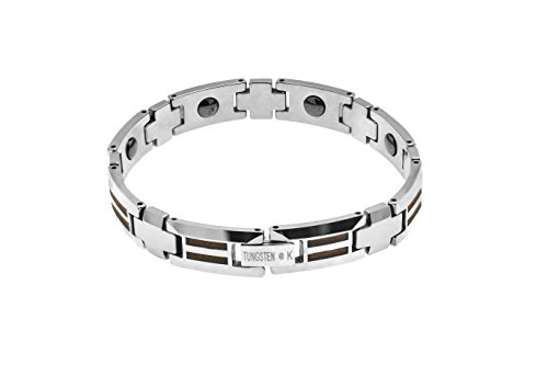 Double Koa Bois tungstène Bracelet à maillons
