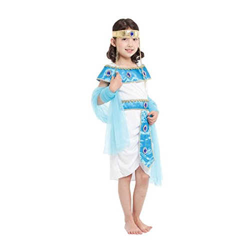 [Merrysky Women's Ancient Egypt Princess Costume for Halloween Tag M Height 110-120cm] (Ancient Egypt Costumes)