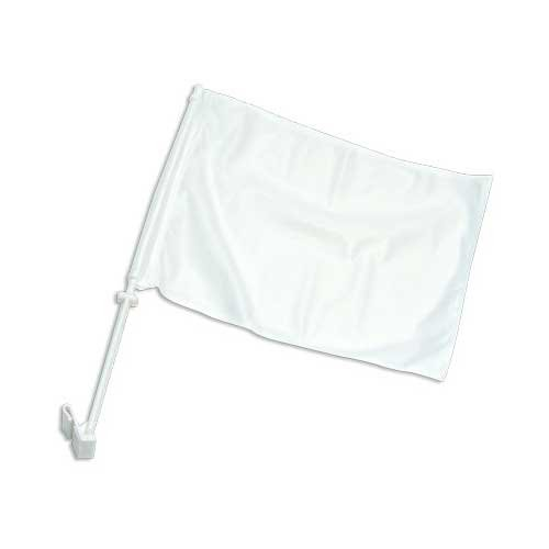 Online Stores Solid Car Flag, White Online Stores Inc. CFWHITE