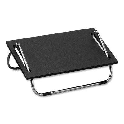"""Safco Products Ergo-Comfort Adjustable Footrest 2105, Ergonomic, Black with Chrome Stand, 5""""H Adjustable Tilt Footrest"""