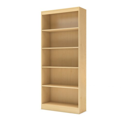 5 Maple Natural (South Shore Axess Collection Bookcase, Natural Maple, 5-Shelf)