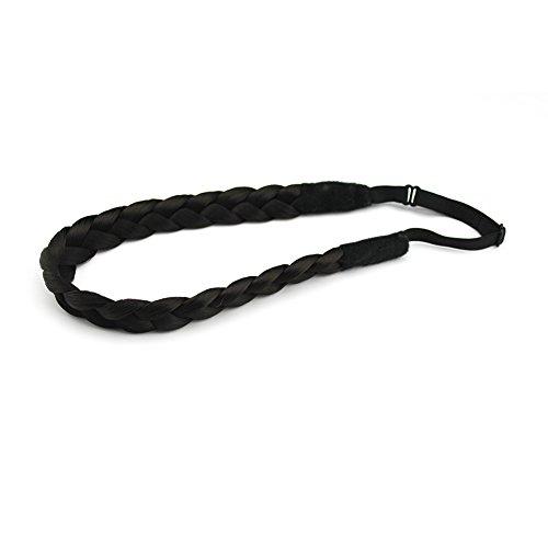 Stretch Braid (Merrylight Fashion Elastic Stretch Hair Braid Headband Plaited Braid Synthetic Hair Band Hair Piece (Dark Brown-4))