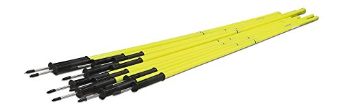 Uber Soccer Speed and Agility Poles - Yellow - 2 Piece - Flexibase by Uber Soccer