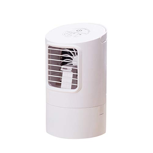 smallwoodi Portable Mini Fans Portable 400ml Adjustable Rapid Cooling Table Air Conditioner with Night Light - White