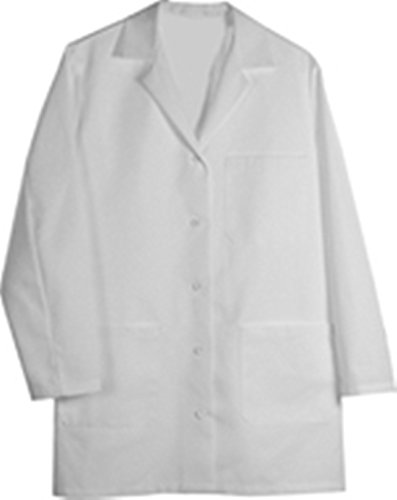 L1 FEMALE LAB COAT WHITE XL