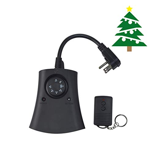 Woods 59746WD Outdoor 24-Hour Photoelectric Timer with Remote Control 3-Outlet, Ideal for Automating Holiday Decorations and Christmas Lights