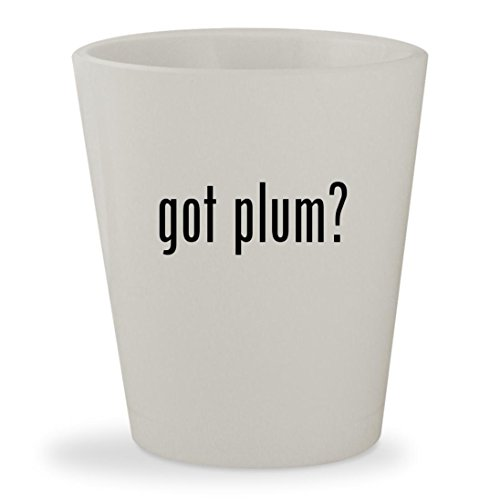 got plum? - White Ceramic 1.5oz Shot (Sugar Plum By Cocalo)