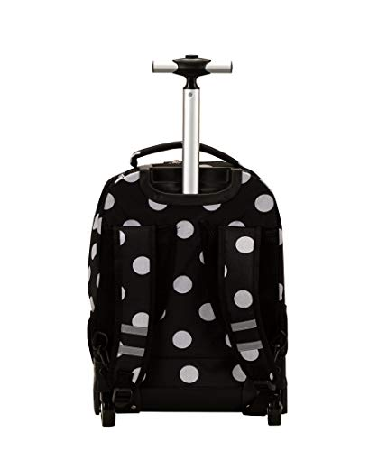 Rockland Luggage 19 Inch Rolling Backpack Printed, Black Dot, Medium ... ace4cec962