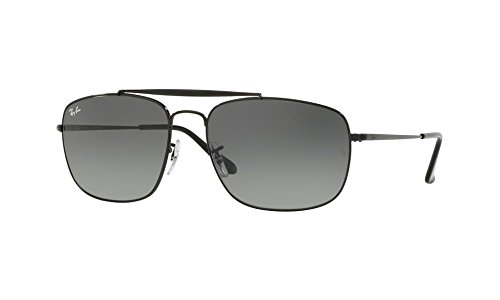Ray-Ban Men's Steel Man Sungkass Square Sunglasses, Black, 60 - Black General The Ban Ray