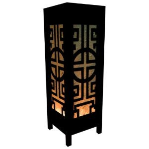 Thai wood lamp handmade oriental classic china black white bedside thai wood lamp handmade oriental classic china black white bedside table lights or floor home decor aloadofball Image collections