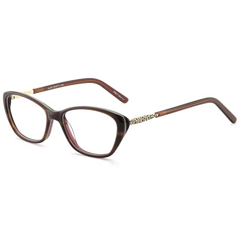 - OCCI CHIARI Women Casual Non-Prescription Eyewear Frames Clear Lens Eyeglasses 50-17-140(Brown)