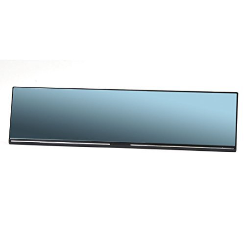 DealMux Universal 300mm Flat Blue Tinted Car Interior Back Up Rear View Mirror