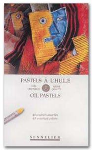Glass Oil Pastels (Sennelier Oil Pastel Assorted Set Of 48)