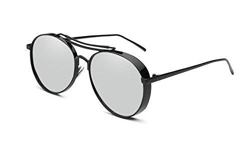Feuille lunettes du C rond en Mercure Lennon style de cercle vintage soleil polarisées métallique de inspirées retro fwfqOH