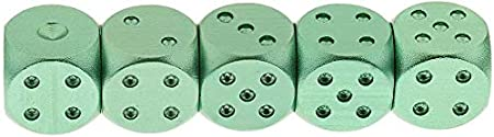 Red ZYAQ Set of 5 Aluminum Alloy Solid Metal Dices with Portable Box for D/&D RPG MTG Board Game