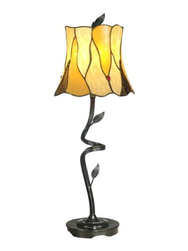 Bronze 60w Buffet Lamp - Dale Tiffany TB11030 Twisted Leaf Buffet Lamp, 9.75