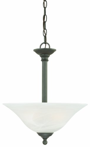 - Thomas Lighting SL826663 Riva Collection 3 Light Pendant, Painted Bronze